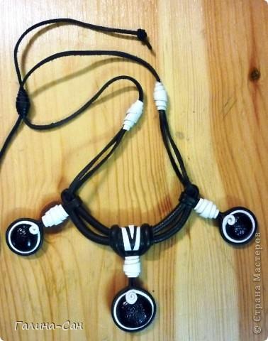 черно-белое колье фото 1