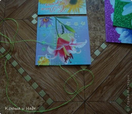 Шкатулка сшита из открыток. фото 7