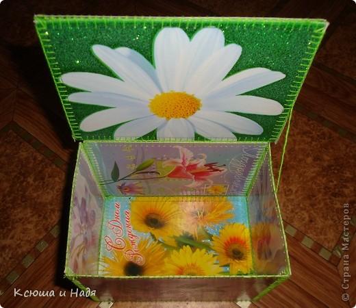 Шкатулка сшита из открыток. фото 13
