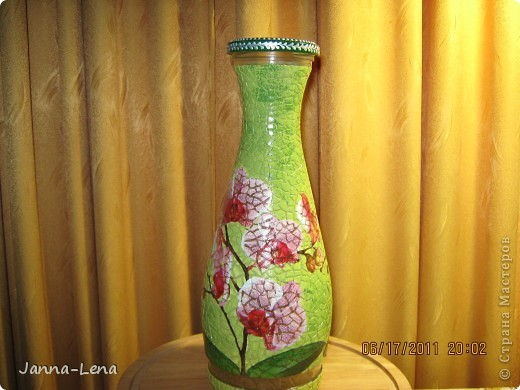 Бутылка с орхидеями. фото 1