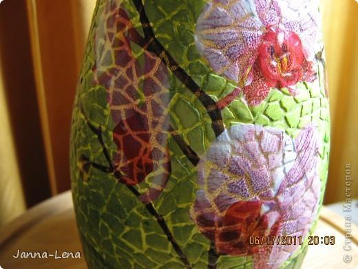 Бутылка с орхидеями. фото 2
