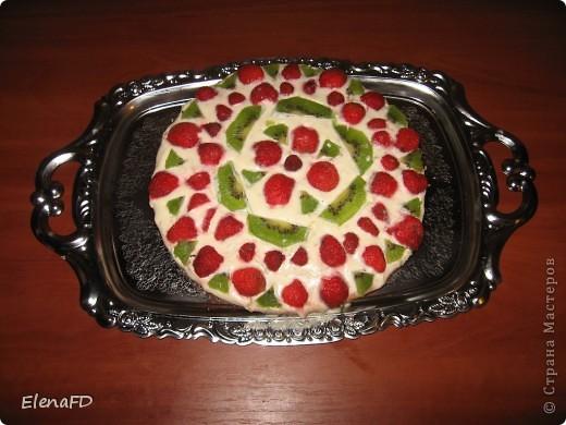 Вот такой легкий тортик получился у меня вчера вечером. Рецепт отсюда http://stranamasterov.ru/node/203068?c=favorite фото 1
