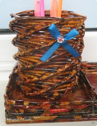 Карандашница с отделением под бумагу или разные мелочи фото 2