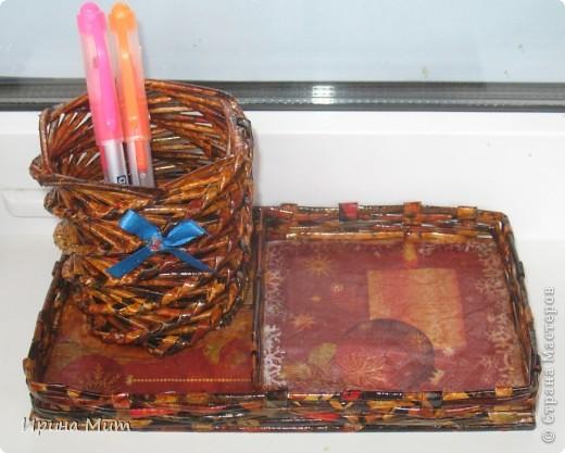 Карандашница с отделением под бумагу или разные мелочи фото 1
