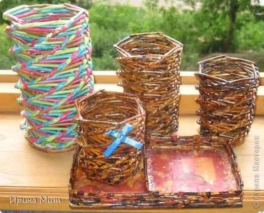 Карандашница с отделением под бумагу или разные мелочи фото 4