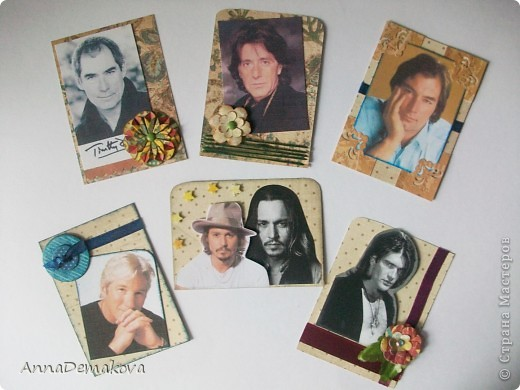 """Всем привет! А вот и я с продолжением серии """"Красавец мужчина"""". В этот раз 6 карточек. Тимоти Далтона сделала по просьбе Оли (olhga), так что ей первой выбирать. фото 1"""