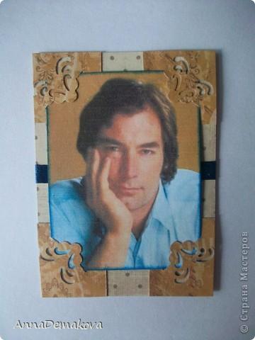 """Всем привет! А вот и я с продолжением серии """"Красавец мужчина"""". В этот раз 6 карточек. Тимоти Далтона сделала по просьбе Оли (olhga), так что ей первой выбирать. фото 4"""