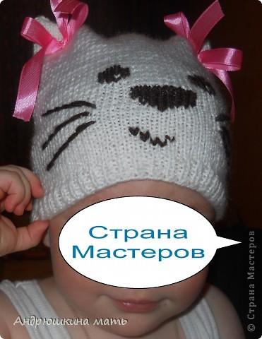Шапка-котенок для девочки фото 3