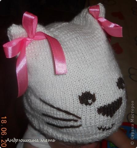 Шапка-котенок для девочки фото 1