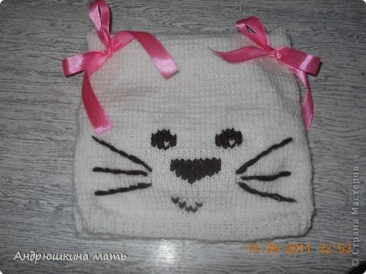 Шапка-котенок для девочки фото 2