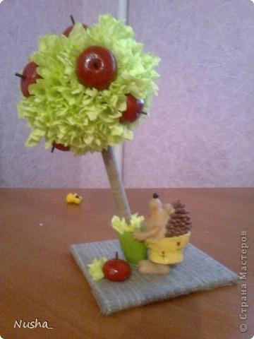 Ежик с яблочками