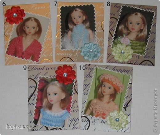 Эта серия АТС состоит из портретов японских кукол Момоко из моей личной коллекции. Вся одежда на куколках тоже сделана мною. На первых 10 фотографиях моя любимая момошка Аделинка, на 11 и 12 фото - Василиса, на 13 и 14 фото Дженни, на 15 фото Молли. Прошу любить и жаловать. № 1 - vaulchenko  № 2 - Вера Дерябина № 3 - Чербунина Анна № 4 - моя племянница № 5 - оставляю себе фото 2