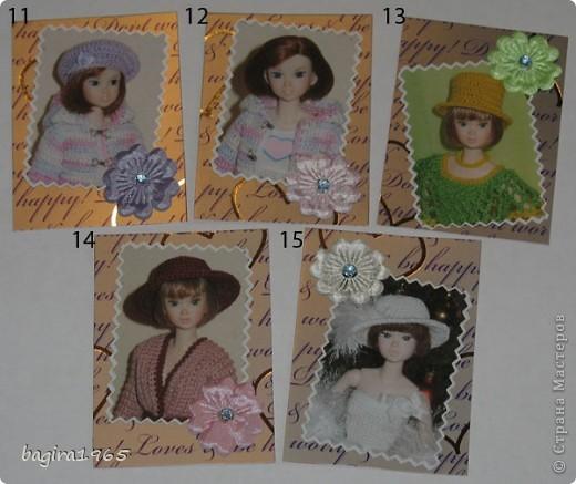 Эта серия АТС состоит из портретов японских кукол Момоко из моей личной коллекции. Вся одежда на куколках тоже сделана мною. На первых 10 фотографиях моя любимая момошка Аделинка, на 11 и 12 фото - Василиса, на 13 и 14 фото Дженни, на 15 фото Молли. Прошу любить и жаловать. № 1 - vaulchenko  № 2 - Вера Дерябина № 3 - Чербунина Анна № 4 - моя племянница № 5 - оставляю себе фото 3
