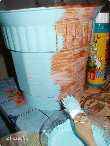 Живет у меня фикус,старый вазон тесным стал и захотелось сделать ему новый и красивый. фото 4