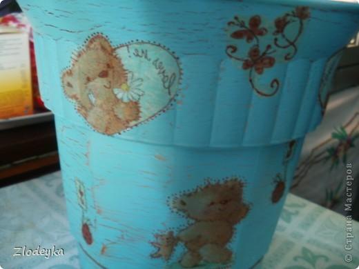 Живет у меня фикус,старый вазон тесным стал и захотелось сделать ему новый и красивый. фото 12