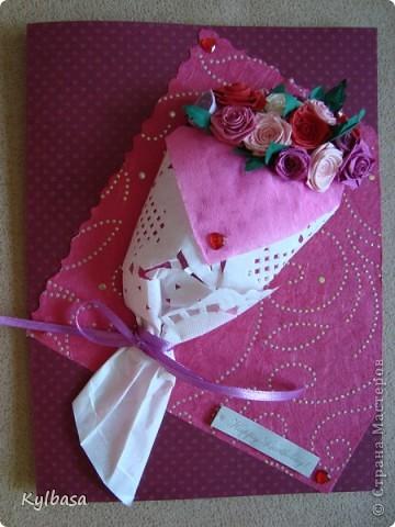 Вот такой розовый букетик сделан на заказ. Заказчица еще не видела - первым жителям Страны хвалюсь :) фото 7