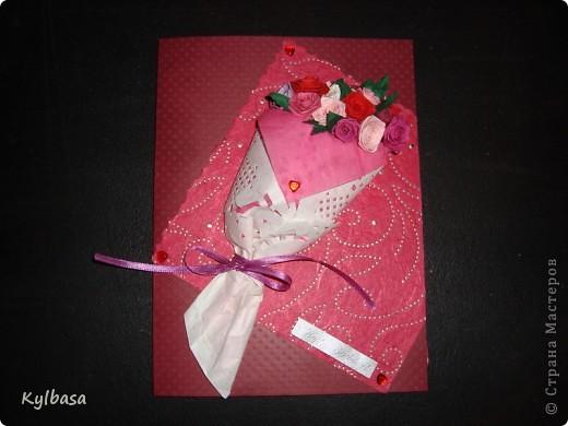 Вот такой розовый букетик сделан на заказ. Заказчица еще не видела - первым жителям Страны хвалюсь :) фото 1