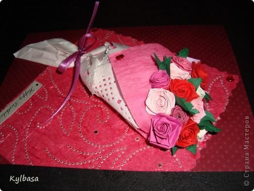 Вот такой розовый букетик сделан на заказ. Заказчица еще не видела - первым жителям Страны хвалюсь :) фото 2