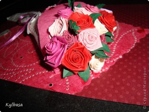 Вот такой розовый букетик сделан на заказ. Заказчица еще не видела - первым жителям Страны хвалюсь :) фото 3