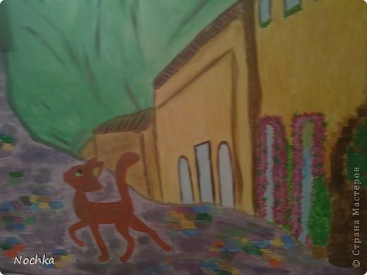 Работаю на севере, когда вокруг одни снега, всегда хочется немного солнца и ярких красок, особенно в комнате где живут молодые девушки. Рисовала на стене в общижитие, подарок для соседки по комнате. фото 6