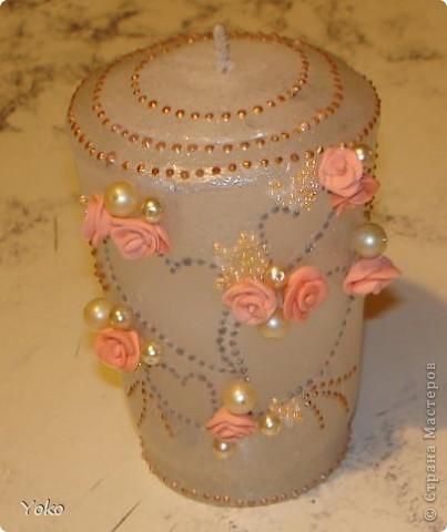 Итак, девочки, сделала я свадебную свечу-очаг и сфотографировала процесс, может кому и пригодится.   фото 26