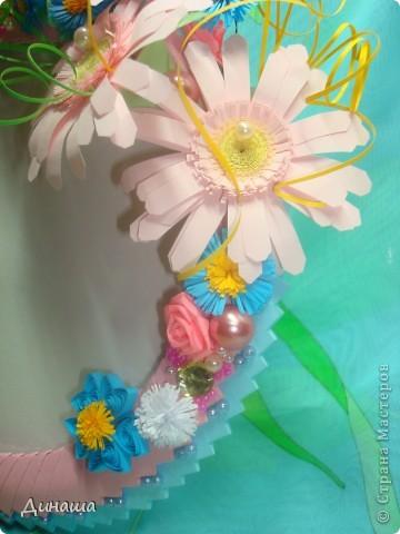 Очередная рамочка, на этот раз с герберами. Обожаю эти цветы, жаль, что рамку пришлось отдать, делала на заказ. фото 4