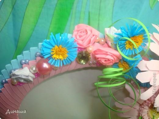 Очередная рамочка, на этот раз с герберами. Обожаю эти цветы, жаль, что рамку пришлось отдать, делала на заказ. фото 3