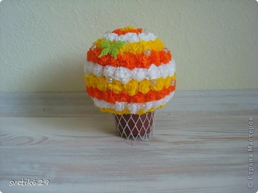Ну вот решила еще один шарик скрутить полосатенький)) фото 2