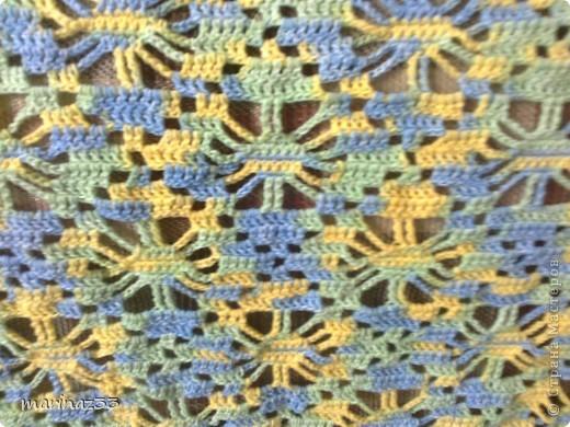 Меланжевая шаль, иранский акрил. фото 2