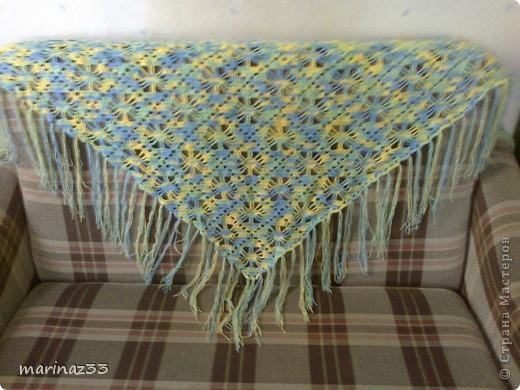 Меланжевая шаль, иранский акрил. фото 1