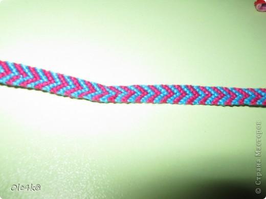 фенечки из мулине  браслет дружбы (косое плетение) фото 5