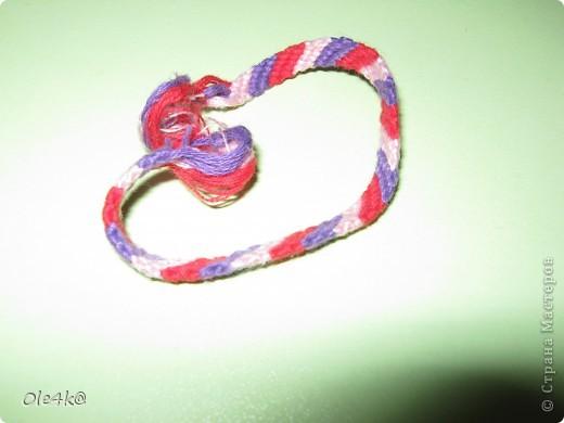 фенечки из мулине  браслет дружбы (косое плетение) фото 6