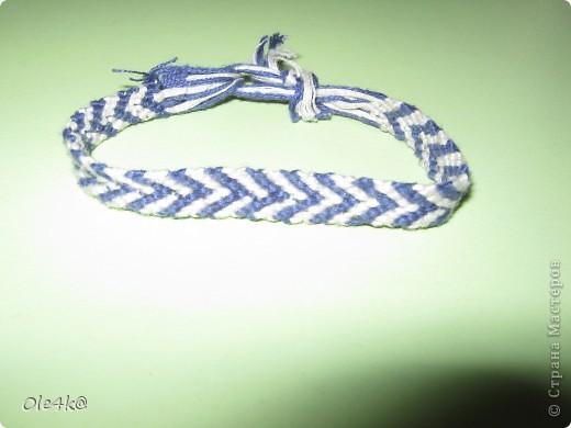 фенечки из мулине  браслет дружбы (косое плетение) фото 9