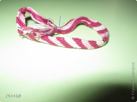 фенечки из мулине  браслет дружбы (косое плетение) фото 11