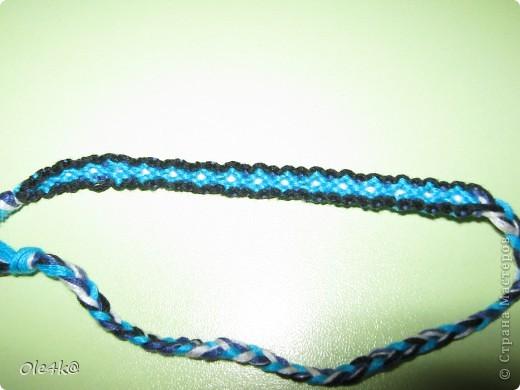 фенечки из мулине  браслет дружбы (косое плетение) фото 12
