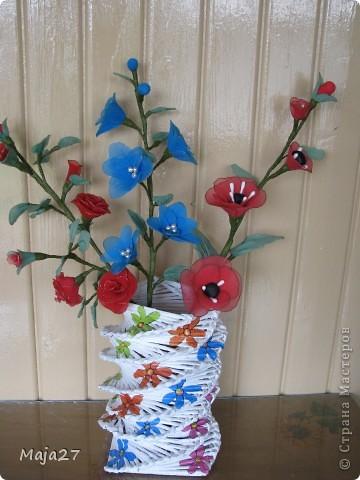 Цветы из капрона. фото 1