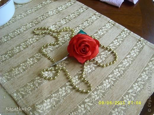 Розочка на заколочку :-) фото 1