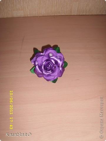 Розочка на заколочку :-) фото 2