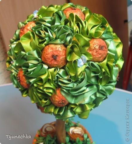 Вот такое вот мандариновое деревце получилось в подарок для любимой подруги. Огромное спасибо Свете-STRENFLEX за подробный МК по созданию подобного деревца и личные советы! фото 2
