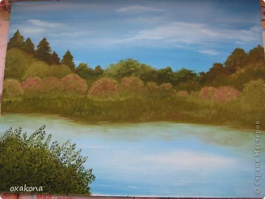 Это мой первый пейзаж, написанный маслом по уроку, найденному где-то в инете фото 4