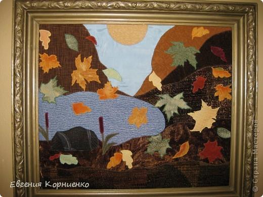 """Картина из ткани """"Алые паруса"""" 30х40 Лоскутная техника аппликация. Картина находится в частной коллекции. фото 2"""