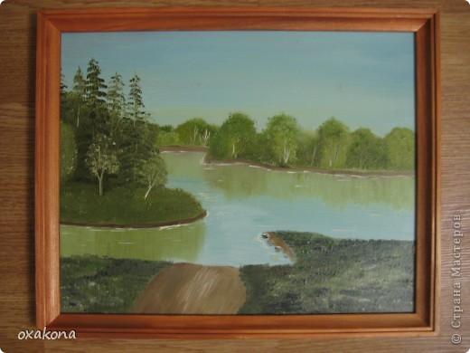 Это мой первый пейзаж, написанный маслом по уроку, найденному где-то в инете фото 6