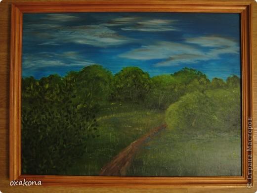 Это мой первый пейзаж, написанный маслом по уроку, найденному где-то в инете фото 7