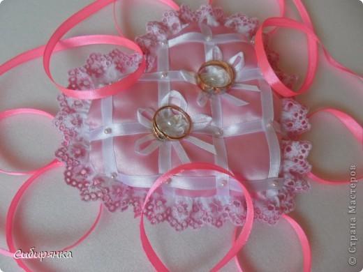 Подушечки для свадебных колец. фото 8