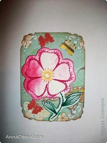 Вот такие цветы у меня нарисовались. Эти картчки очень понравились моему сыну. В серии 5 карточек. Выбирайте пожалуйста. фото 2