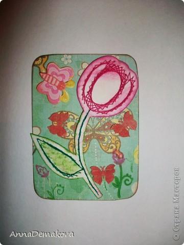 Вот такие цветы у меня нарисовались. Эти картчки очень понравились моему сыну. В серии 5 карточек. Выбирайте пожалуйста. фото 5