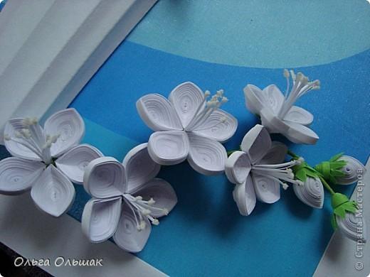 Картина панно рисунок День рождения Квиллинг Букет Нежность Бумага гофрированная Бумажные полосы Проволока Салфетки фото 6