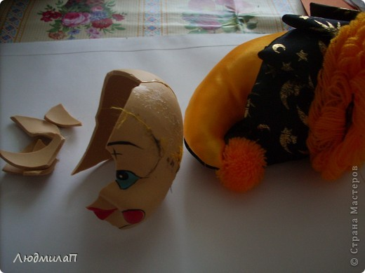 Голова  Клоуна- отреставрирована. фото 2