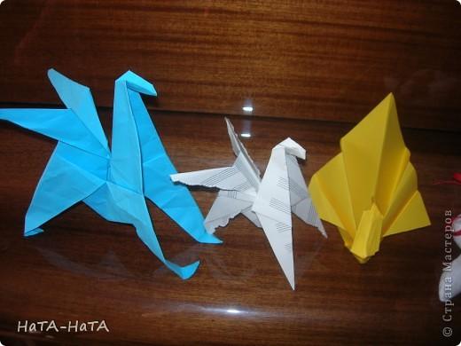 """Крокодяша! Он умеет открывать и закрывать пасть, если потянешь за хвост. Он сделан по книге """"Оригами и конструирование"""" .Там же шаблон. Может позже выложу МК. фото 5"""