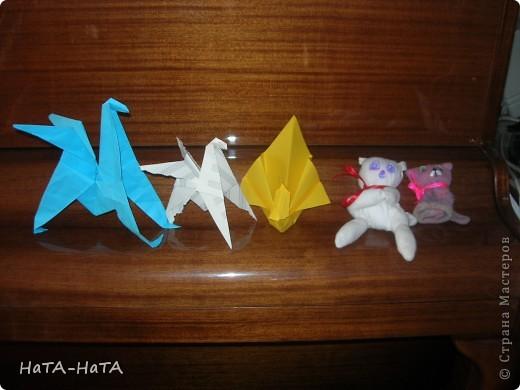 """Крокодяша! Он умеет открывать и закрывать пасть, если потянешь за хвост. Он сделан по книге """"Оригами и конструирование"""" .Там же шаблон. Может позже выложу МК. фото 6"""